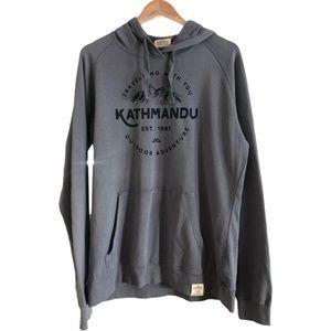 Kathmandu Size 16 Blue Earth Colours Hoodie Jumper